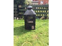 Outdoor wood burner