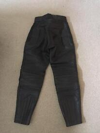 Ladies Frank Thomas Leather Motorbike Trousers