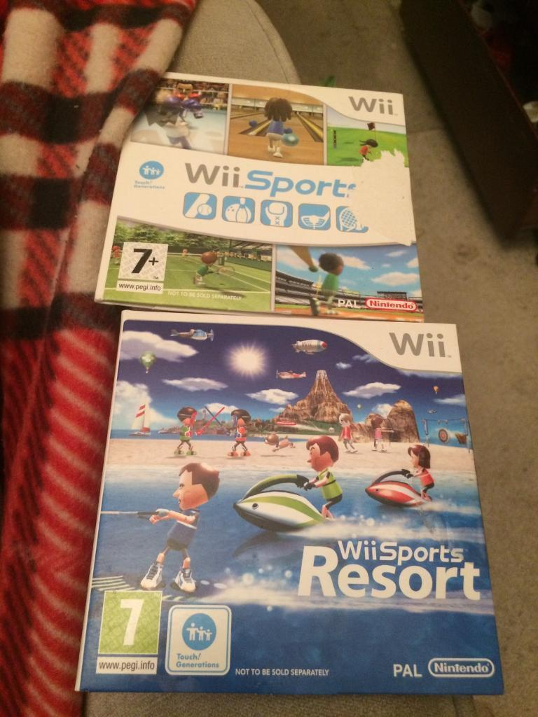 2 Nintendo Wii sports games
