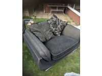 3 seater sofa with swivel chair free collection only. A bit run down just need cleaning