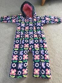 Marks & Spencer girls snow suit