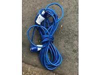 Caravan hookup lead. Hook up cable.