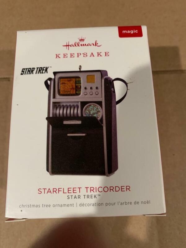 Hallmark Keepsake Ornament 2018 Star Trek Starfleet Tricorder Magic Sound Radio