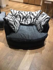 Swivel chair and matching arm chair