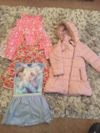 Girls dress bundle with coat age 5/6