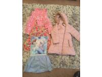 Girls dress bundle with coat age 5/6