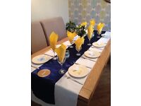 10 Navy Table Runners