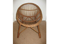 FABULOUS CHILDS WICKER CHAIR - great for any small child approx 1-7 years! BEAUTIFUL! VERY CHEAP!