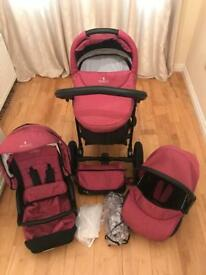 Pink Venicci Travel System *PRICE DROP* £100