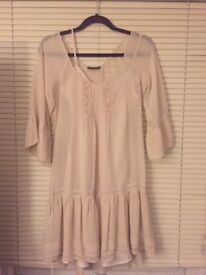 Warehouse silk shift dress size 10