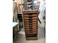 Vintage drawer unit