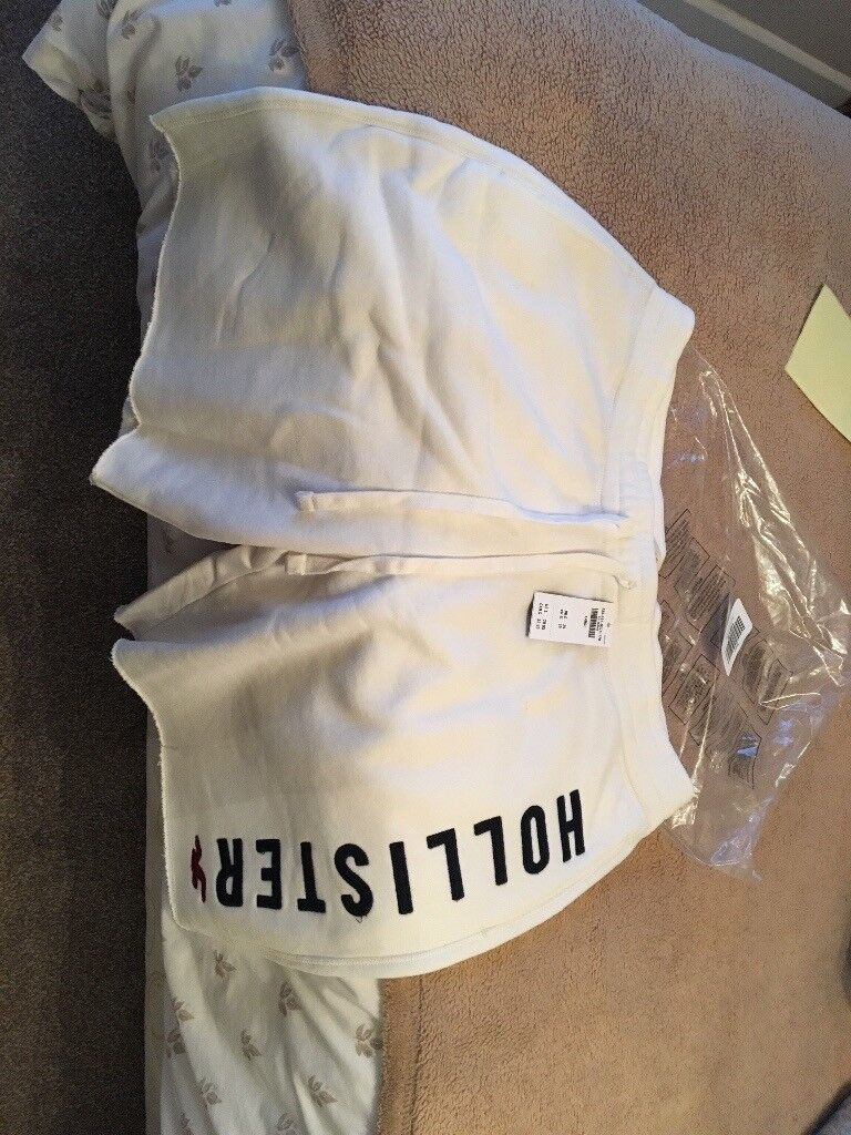 Brand new with tags hollister fleece shorts large