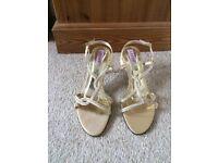 Ladies gold strappy sandals BNIB