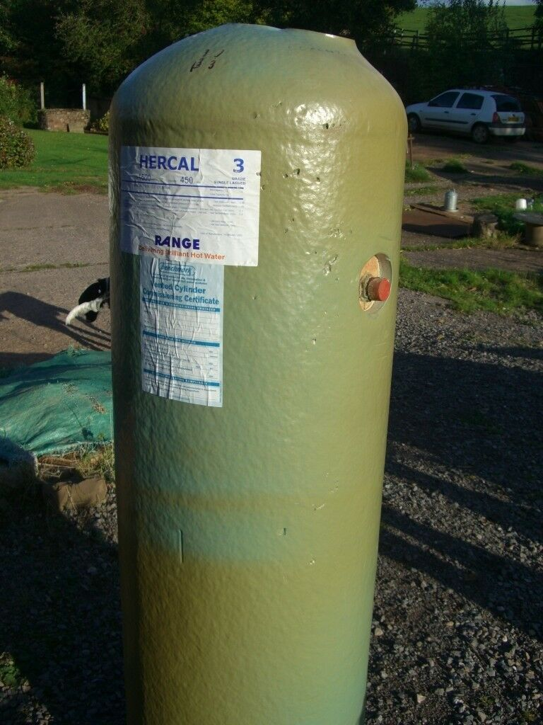 Lagged twin coil, 202litre hot water cylinder - unused | in ...