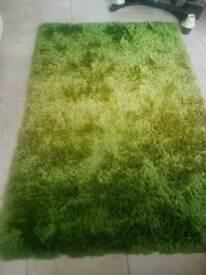Graduated green rug