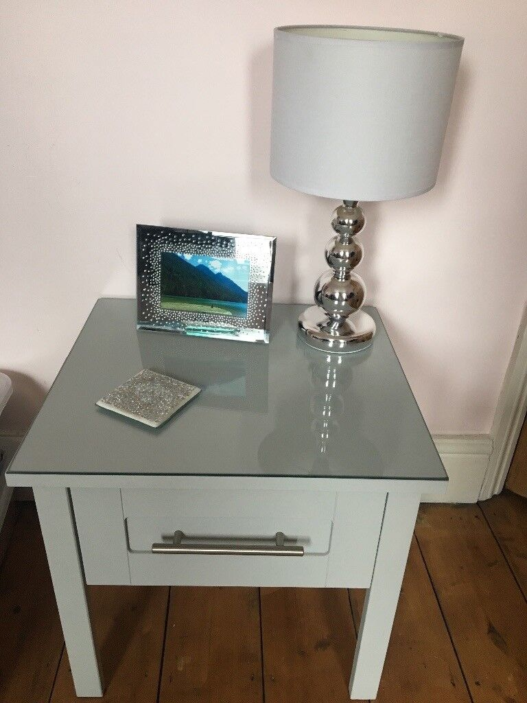 Painted Side tables that can be used for bedroom or Lounge with lamps