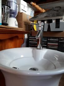 Sink tap and cabinet w50x d50.5x h116cm