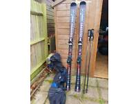 Elan fusion skis 170cm with poles and bag