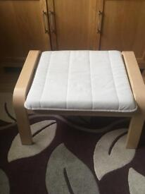 Ikea footstool cream