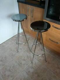Kitchen bar stools chrome