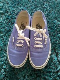 Ladies Vans size 4 Violet