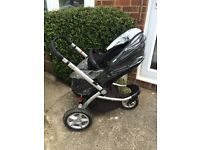 Mothercare My Choice My3 Pram complete travel system