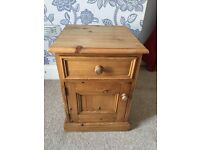 Real Wood Pine bed side table