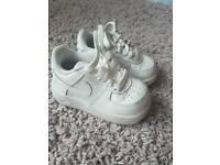 Toddler all white Nike air force 1s