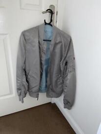 Alpha Industries Bomber Jacket Grey SMALL