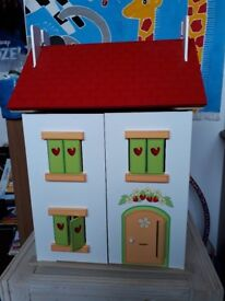 Dolls house - fully furnished with dolls