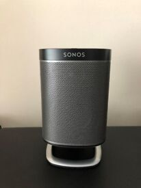 SONOS PLAY 1 IN BLACK WITH FLEXSON STAND