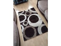 Brown and cream living room/bedroom rug