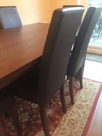 Marks and Spencer Sonama dining table & 6 leather chairs