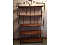 Pine/steel shelving unit