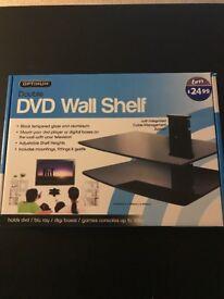 Double DVD Wall Shelf (Brand New)