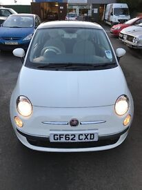 Fiat 500 2012 White 1.2 Petrol Manual