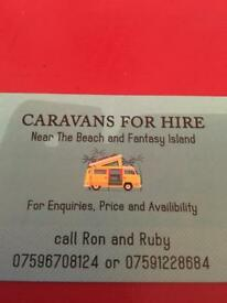 Caravans to hire