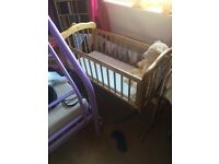 rocking crib cot mothercare pet and smoke free home, can deliver edinburgh lothains