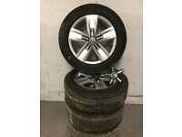 VW Alloy wheels and tyres X 4 brand new, 215/60R 17,tyres only done 60 miles complete bargain.