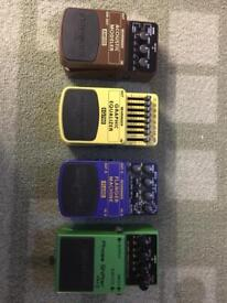 Guitar effects pedals - selection