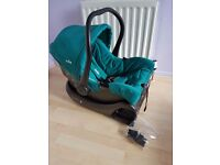 joie size 0 car seat and ISO fix bace