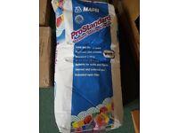2 x 20kg Mapei Prostandard white tile adhesive