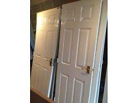 12 internal doors, various sizes, white glossed