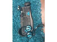 Gaming pc mouse keyboard and headset