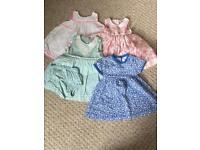 Girls 0-3 month dress bundle