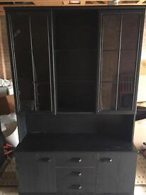 Black Ash Display cabinet