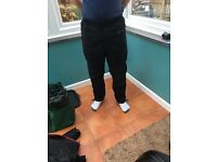 Wise Black Textile Trousers (30-32inch waist)