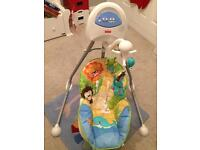 Fisher price baby swing with soothing music