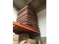 20 brown fabric bench seating cushions