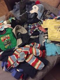 Baby boy clothes bundle size 9-12 months